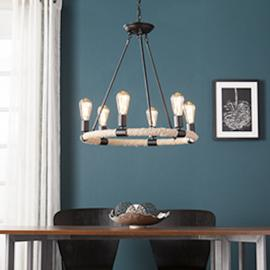 LT1940 Liendo By Southern Enterprises 6-Light Rope Chandelier