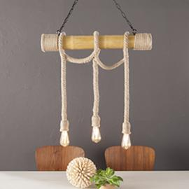 LT1943 Moncayo By Southern Enterprises DIY 3-Rope Island Pendant Lamp