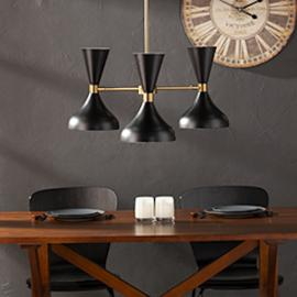 LT1953 Anza By Southern Enterprises 3-Light Pendant Lamp