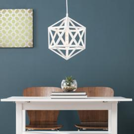 LT2814 Lecava By Southern Enterprises Geometric Cage Pendant Lamp - Contemporary Style