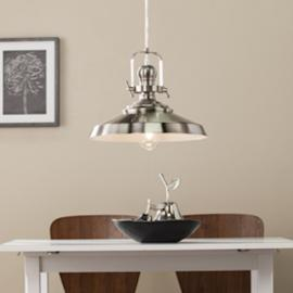 LT3807 Mindel By Southern Enterprises Industrial Bell Pendant Lamp - Contemporary Style