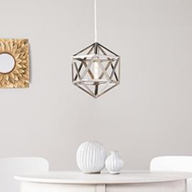 LT3814 Lecava By Southern Enterprises Geometric Cage Pendant Lamp - Contemporary Style