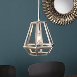 LT3815 Draco By Southern Enterprises Caged Lantern Pendant Lamp