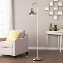 LT3852 Pinsley By Southern Enterprises Caged Bell Floor Lamp - Contemporary