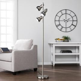 LT4113 Gaston By Southern Enterprises Metal Floor Lamp - Universal Style- Brushed Nickel