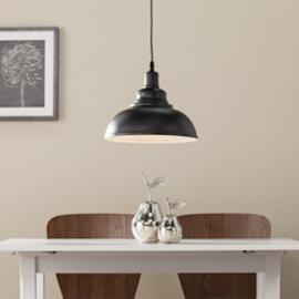 LT4806 Morova By Southern Enterprises Bell Pendant Lamp - Contemporary Style - Black