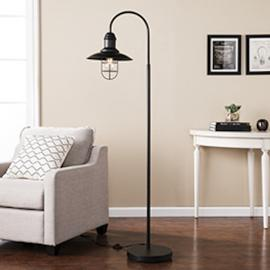 LT4852 Pinsley By Southern Enterprises Caged Bell Floor Lamp