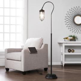 LT5124 Terrance By Southern Enterprises Floor Lamp - Contemporary Style - Black