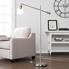 LT5131 Tiernan By Southern Enterprises Floor Lamp - Contemporary Style - Brushed Nickel