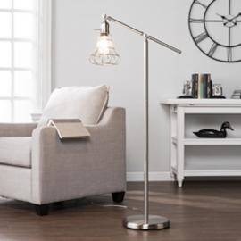 LT5143 Trayden By Southern Enterprises Floor Lamp - Contemporary Style - Brushed Nickel