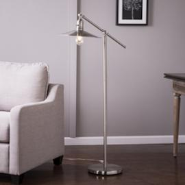 LT5173 Vikram By Southern Enterprises Floor Lamp - Contemporary Style - Brushed Nickel