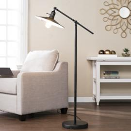 LT5174 Vikram By Southern Enterprises Floor Lamp - Contemporary Style - Black