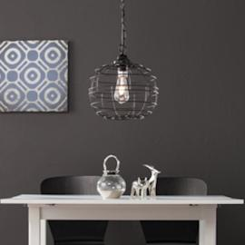 LT7017 Ramsey By Southern Enterprises Pendant Light - Contemporary Style - Black