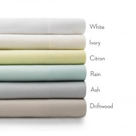 Rayon From Bamboo - Cal King White Sheets