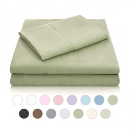 Brushed Microfiber - Cal King Fern Sheets
