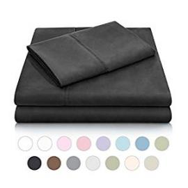 Brushed Microfiber - Split Cal King Black Sheets