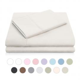 Brushed Microfiber - Split Cal King Driftwood Sheets