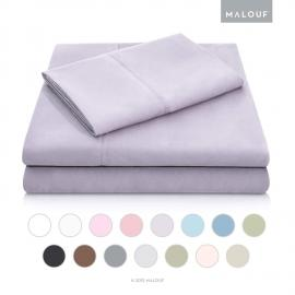 Brushed Microfiber - Split Cal King Lilac Sheets