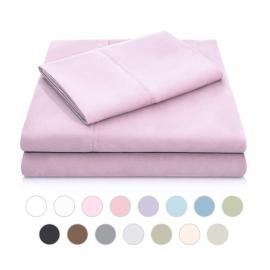 Brushed Microfiber - Split King Blush Sheets