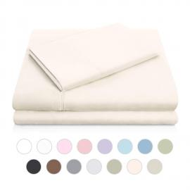 Brushed Microfiber - Twin Ivory Sheets