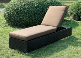 Ablee OC1822BR Brown Adjustable Outdoor Patio Lounger