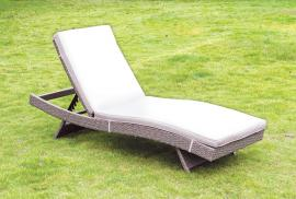 Gigi OC2123 Gray Adjustable Patio Lounger