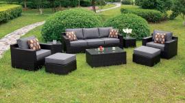 Helina OS1827GY Grey 8 Pc Patio Sofa Set