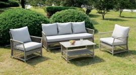 Jacquelyn OS1832 Gray 4 Pc Outdoor Patio Sofa Set