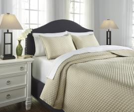 Dietrick Ivory Q256053 by Ashley 3 pc Bedding Set