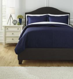 Raleda Navy Q497003 by Ashley 3 pc. Bedding Set