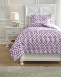 Loomis Q758021 Ashley Twin Comforter 2 pc set in Lavender