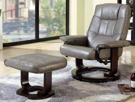 Cheste RC6920GY Swivel Lounger Accent Chair