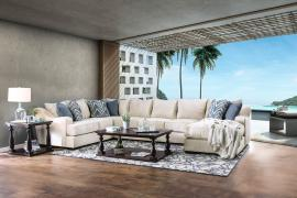 Marisol Ivory Fabric Sectional SM1113 by Furniture of America
