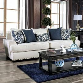 Germaine Ivory Fabric Sofa SM1282-SF by Furniture of America