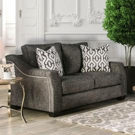 Coralie Charcoal Plush Microfiber Fabric SM2012-LV Loveseat by Furniture of America