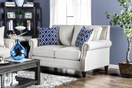 Giovanni Beige Fabric Loveseat SM2672-LV by Furniture of America