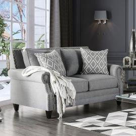 Giovanni Grey Fabric Loveseat SM2673-LV by Furniture of America