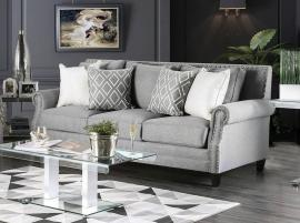 Giovanni Grey Fabric Sofa SM2673-SF by Furniture of America
