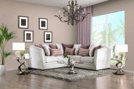 Kizzy Beige Fabric Sectional SM2677 by Furniture of America