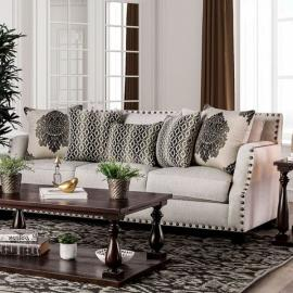 Cornelia Beige Fabric Sofa SM3072-SF by Furniture of America