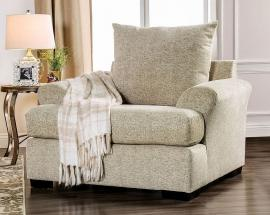 Anthea Beige Woven Fabric SM5140-CH Chair by Furniture of America