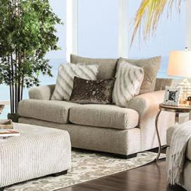 Anthea Beige Wooven Fabric SM5140-LV Loveseat by Furniture of America