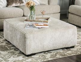 Anthea Beige Woven Fabric SM5140-OT Ottoman by Furniture of America