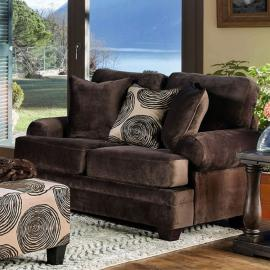 Bonaventura Brown Fabric Sectional SM5142BR-LV by Furniture of America