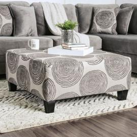 Bonaventura Gray Accented Ottoman SM5142GY-OT by Furniture of America