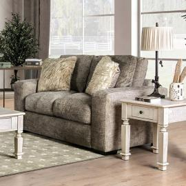 Crane Brown Fabric Loveseat SM5154-LV by Furniture of America