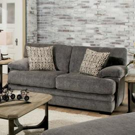 Abrianna Gray Chenille Fabric Loveseat SM5162GY-LV by Furniture of America