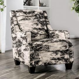 Barnett Ivory & Gray Fabric Chair SM5204-CH by Furniture of America