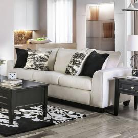 Barnett Ivory Fabric Sofa SM5154-SF by Furniture of America
