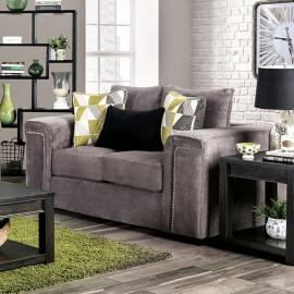 Bradford Warm Gray Fabric Loveseat SM6154-LV by Furniture of America